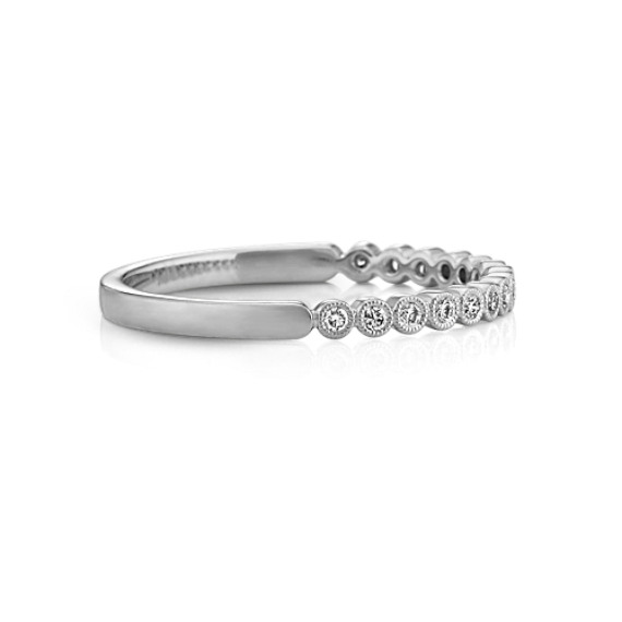 BezelSet Round Diamond Wedding Band Shane Co