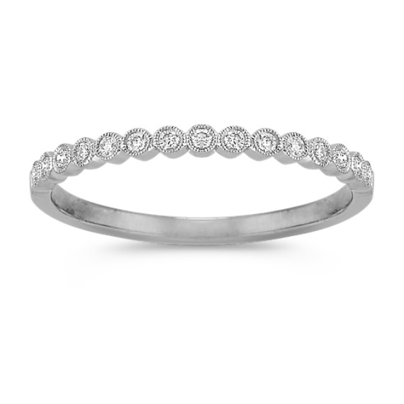 Bezel-Set Round Diamond Wedding Band