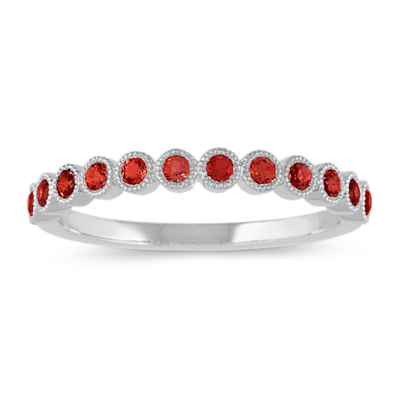 Bezel-Set Ruby Ring in 14k White Gold