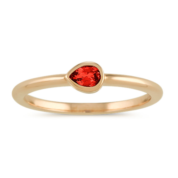 Bezel-Set Ruby Ring in 14k Yellow Gold