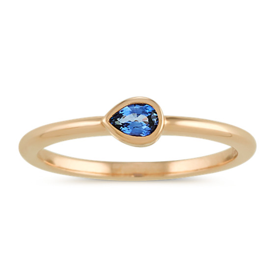 Bezel-Set Traditional Sapphire Ring in 14k Yellow Gold