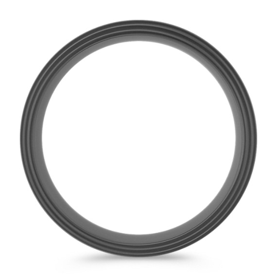 Black Titanium Comfort Fit Ring (8mm) image