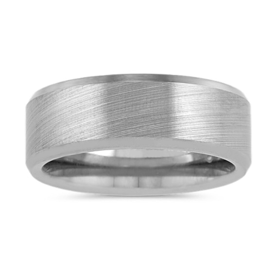 Brushed Titanium Mens Band (8mm)