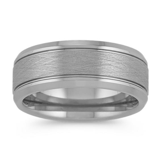 Brushed Titanium Ring (8mm)