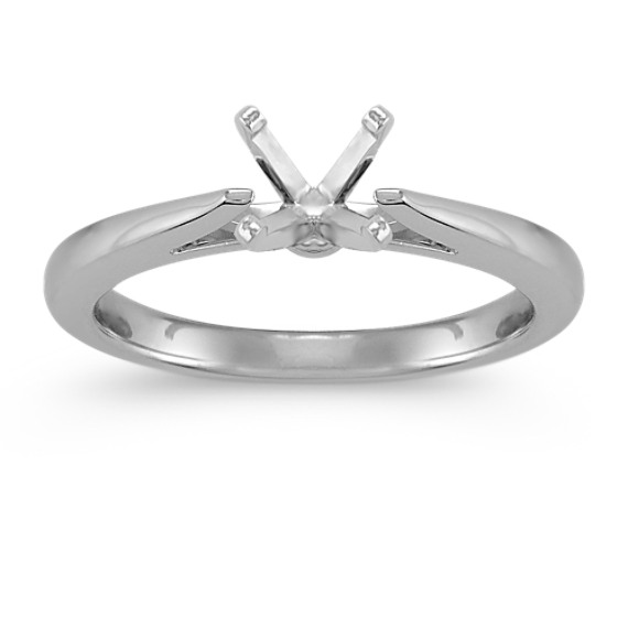 Cathedral Solitaire Platinum Engagement Ring