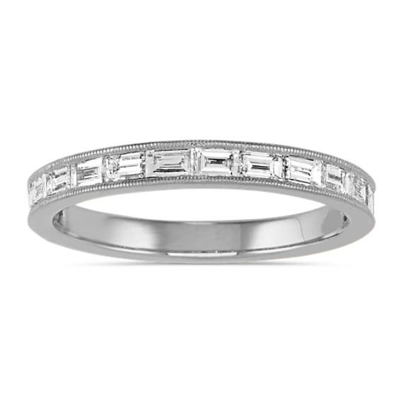 Channel-Set Baguette Diamond Ring 14k White Gold