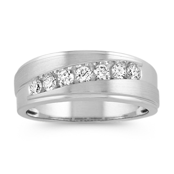 Channel-Set Diamond Ring in 14k White Gold (4mm)