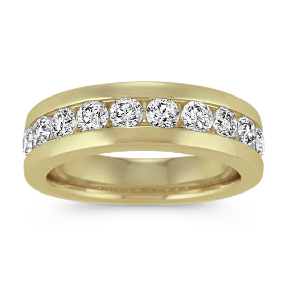 Channel-Set Diamond Ring in 14k Yellow Gold (7mm)