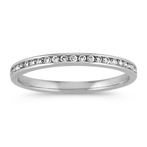 Channel-Set Diamond Wedding Band in 14k White Gold