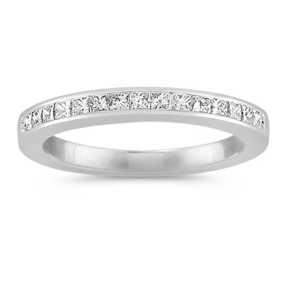 Channel-Set Princess Cut Diamond Wedding Band
