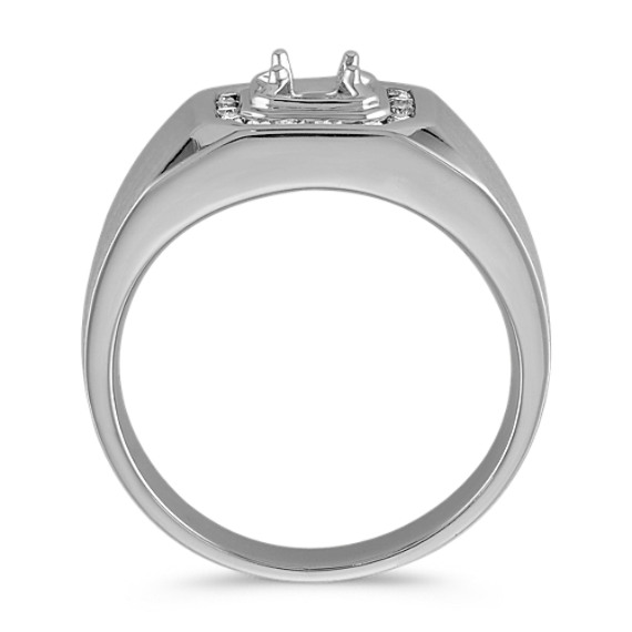 Channel-Set Round Diamond Men's Engagement Ring (11mm) image