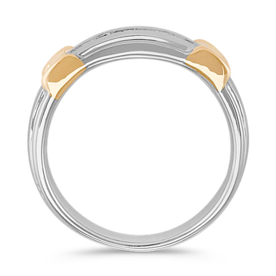 21fa4f5ea76ba8 Channel-Set Round Diamond Mens Band in 14k Two-Tone Gold (7mm ...