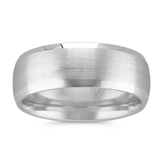 Classic 14k White Gold Band with Satin Finish (8mm)