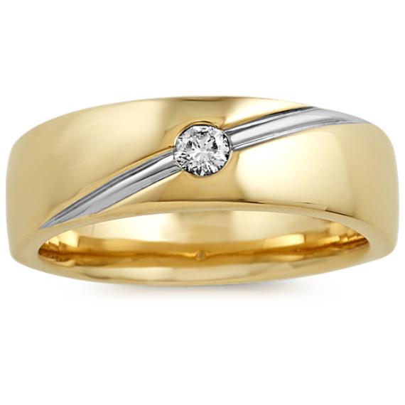 Classic Bezel-Set Round Diamond Ring (7mm)