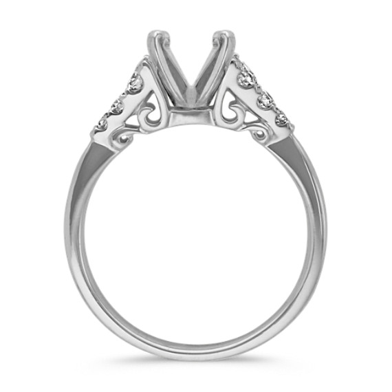 Classic Cathedral Round Diamond Engagement Ring image