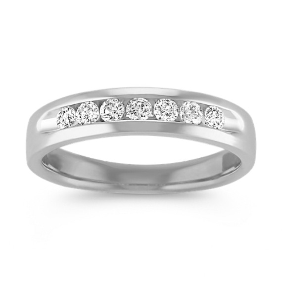 Classic Channel-Set Diamond Platinum Ring