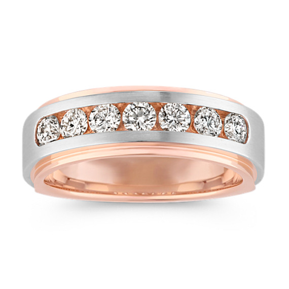 Classic Channel-Set Diamond Ring in 14k Rose and White Gold (7.5mm)