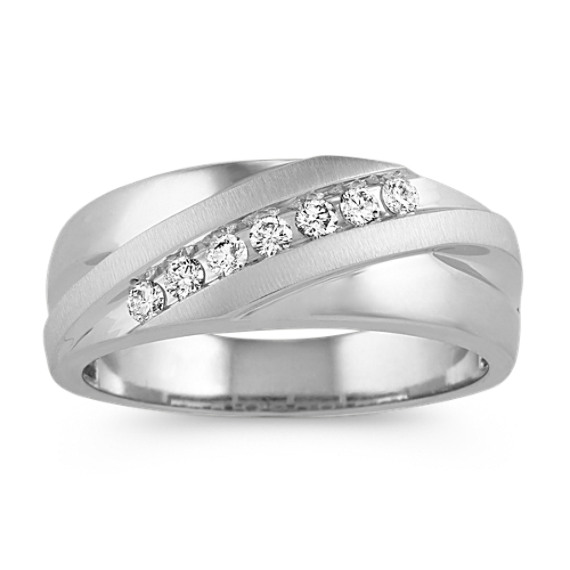 Classic Channel-Set Diamond Ring in 14k White Gold (4mm)