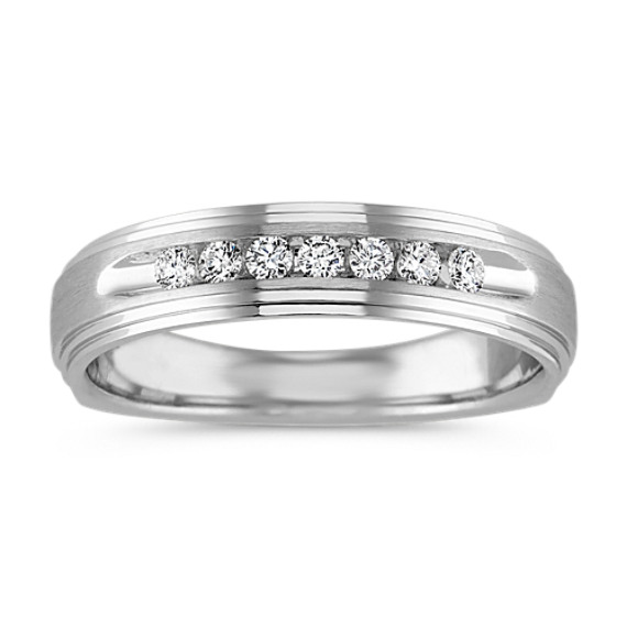 Classic Channel-Set Ring in 14k White Gold (5mm)