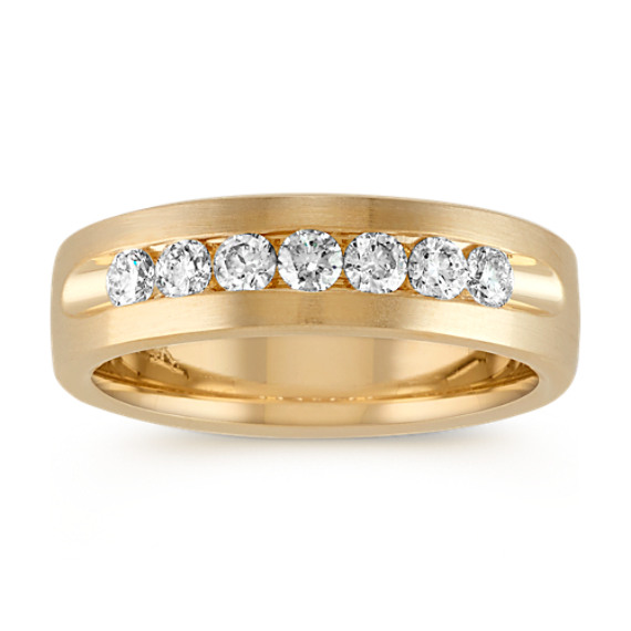 Classic Channel-Set Round Diamond 14k Yellow Gold Band (6.5mm)