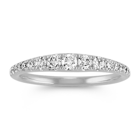 Classic Diamond Ring in 14k White Gold
