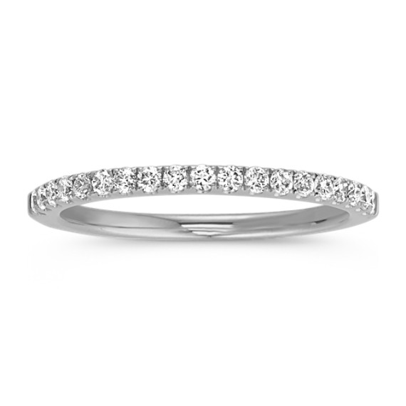 Classic Diamond Wedding Band in 14k White Gold (Sz 4)