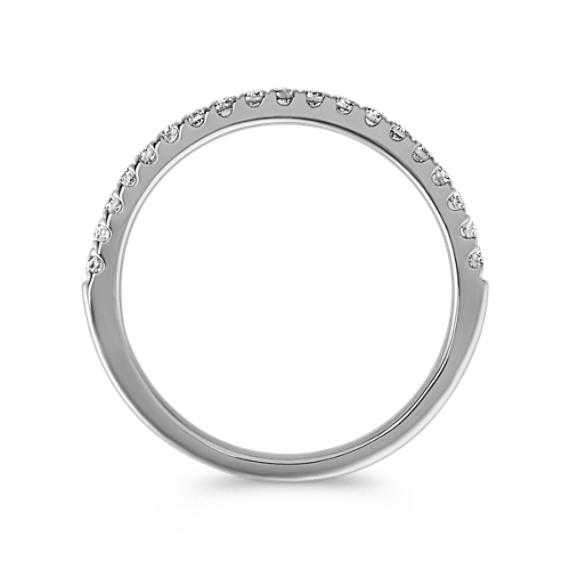 Classic Diamond Wedding Band in 14k White Gold image