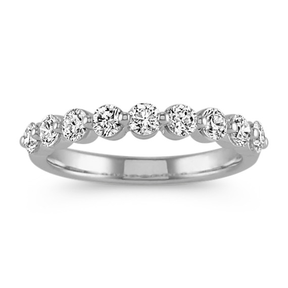Classic Diamond Wedding Band in 14k White Gold