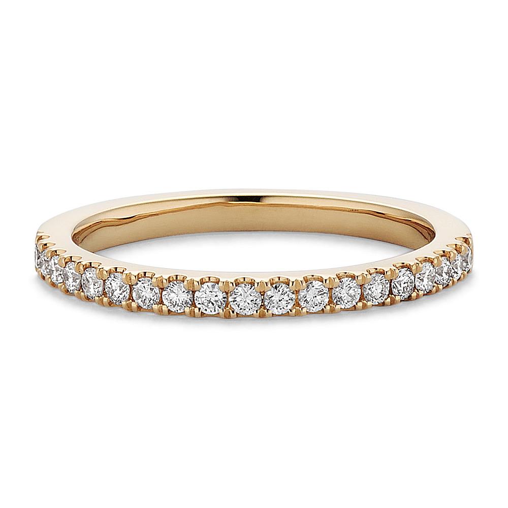 Classic Diamond Wedding Band in 14k Yellow Gold | Shane Co.