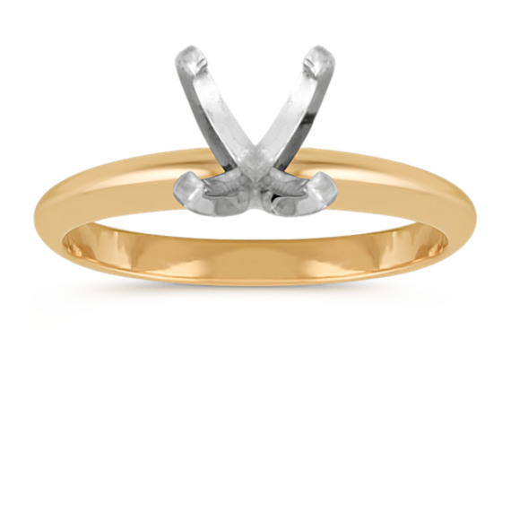 Classic Engagement Ring in 18k Yellow Gold