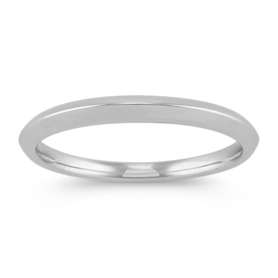 Classic Knife Edge Wedding Band in Platinum