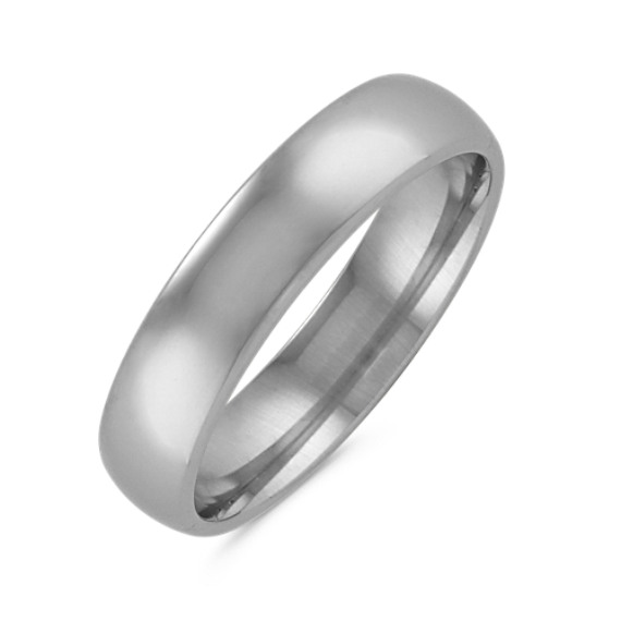 Classic Mens Wedding Band In Platinum 5mm Shane Co