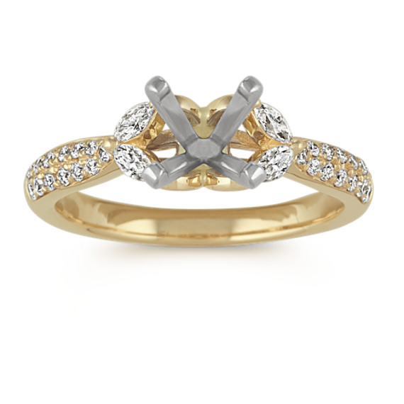 Classic Pave-Set Diamond Engagement Ring