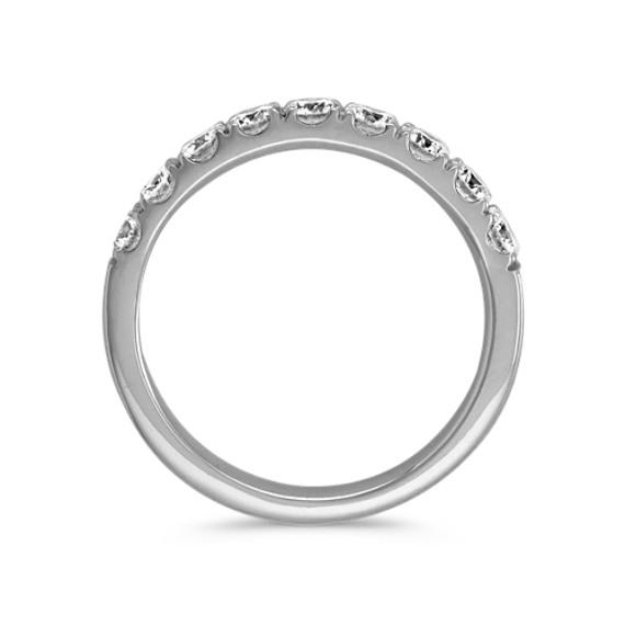 Classic Pave-Set Round Diamond Platinum Ring image