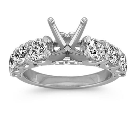Classic Round Diamond Engagement Ring in 14k White Gold