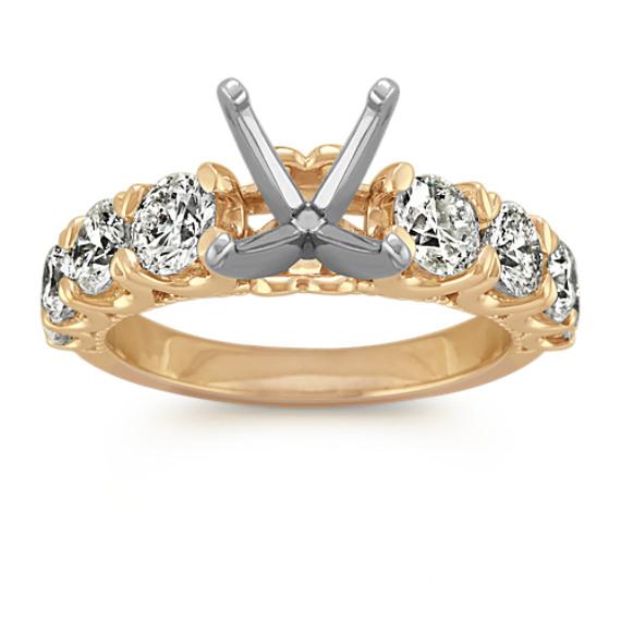 Classic Round Diamond Engagement Ring in 14k Yellow Gold