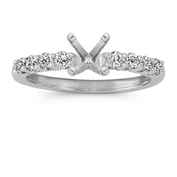 Classic Round Diamond Engagement Ring