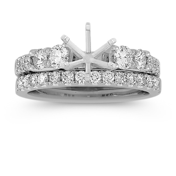 Classic Round Diamond Wedding Set