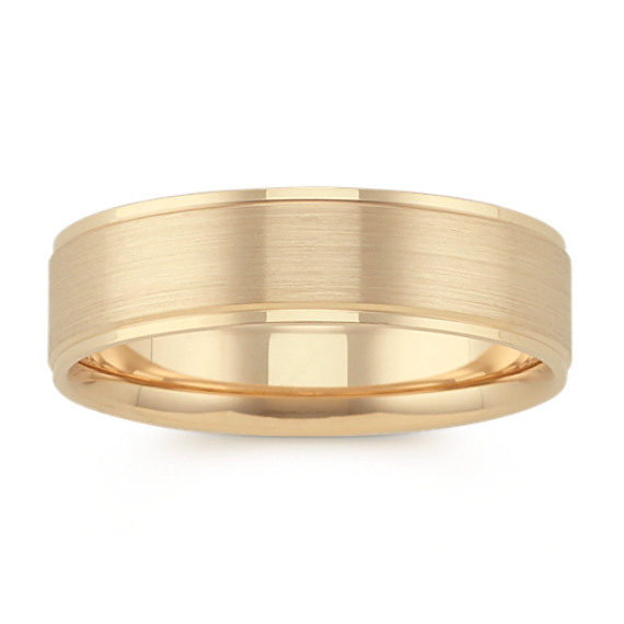 Classic Satin Finished 14k Yellow Gold Comfort Fit Band (6mm)