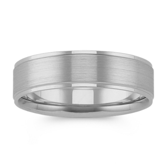 Classic Satin Finished Platinum Comfort Fit Band (6mm)