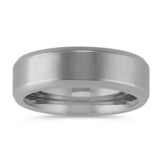 Classic Satin Finished Titanium Ring (7mm)