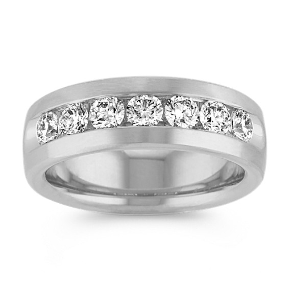 Classic Seven Stone Round Diamond Ring in 14k White Gold (7.5mm)