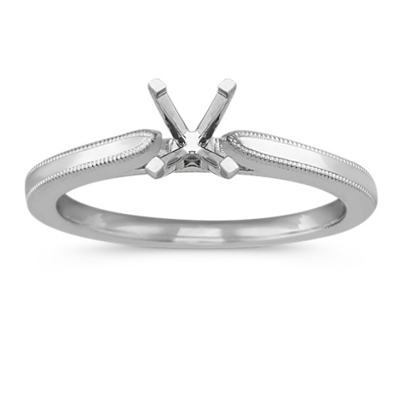 Classic Solitaire Engagement Ring with Milgrain Detailing
