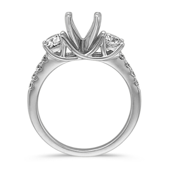 Classic Three-Stone Platinum Engagement Ring image