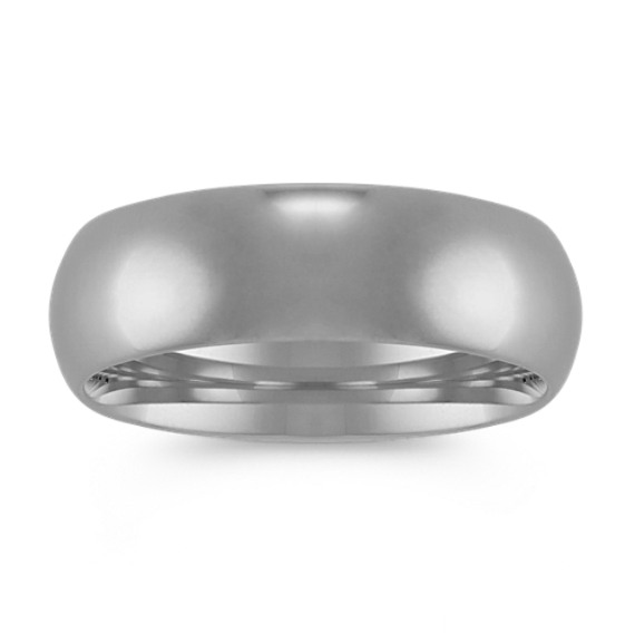 Comfort Fit Wedding Band in 14k White Gold (7mm)