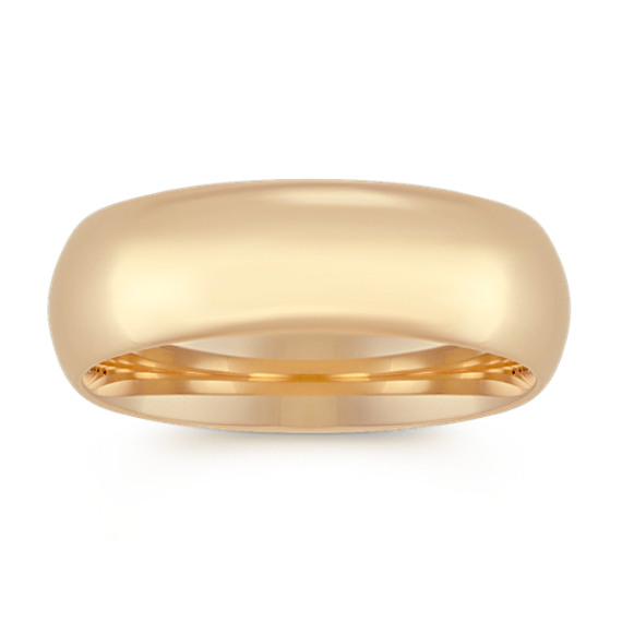 Comfort Fit Wedding Band in 14k Yellow Gold (7mm)