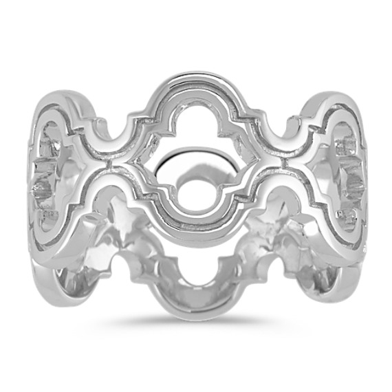 Contemporary Cutout Sterling Silver Ring