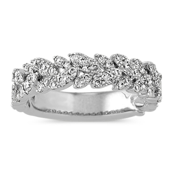 Contemporary Diamond Wedding Band