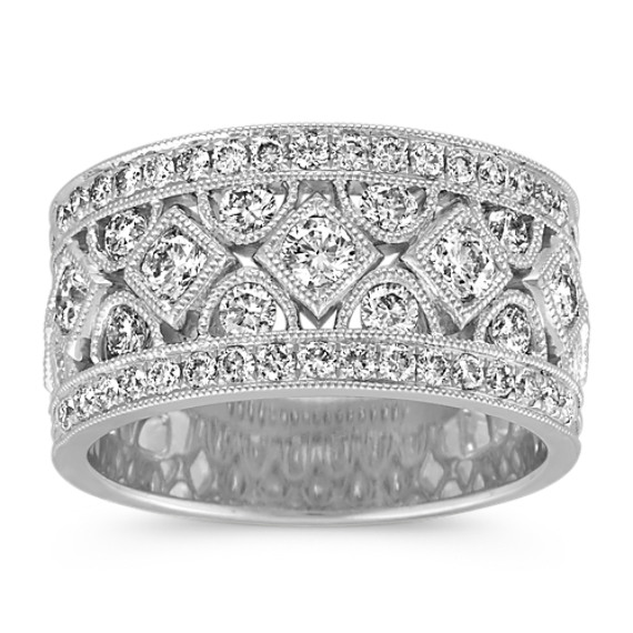 Contemporary Round Diamond Band with Milgrain