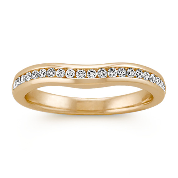 Contour Channel-Set Wedding Band in 14k Yellow Gold